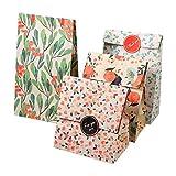 12Pcs Sacchetti Regalo, Sacchetti di Partito di Carta Kraft Fiore Rotto Coreano per Il Compleanno, Regali di Nozze Regali di Natale Borse di Caramelle Forniture per Eventi (#1)