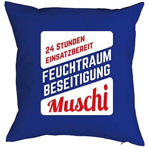 Witziges Sofa-/Dekokissen für Erwachsene: 24 Stunden einsatzbereit... Muschi :) Sex Fun Ü18 Porno Kissen Spaß Geschenk
