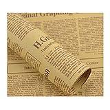 30 Fogli di Carta da Giornale in Carta Kraft, Carta da Regalo per Fiori, Bouquet di Fiori Fai-da-Te, Decorazioni per Fiori