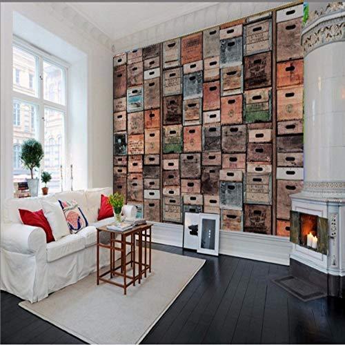 Kuamai Fototapete Europa Die Vereinigten Staaten Wind Retro Alte Holzkiste Tv Wand Benutzerdefinierte Wohnzimmer Schlafzimmer Tapete Wandbild-120X100cm