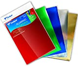 Sadipal 936167 - Pack de 5 cartulinas de aluminio, multicolor