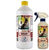 ECODOR - 1 Liter UF2000 Nachfüllflasche + leere Flasche. Uringeruch Neutralisier. Ein geruchsneutraler effizienter Katzen- und Haustierurin Geruchsentferner, der Urin wirksam den Kampf ansagt. Dort wo Uringeruch unerwünscht ist, bietet unser Produkt eine umweltfreundliche und effiziente Lösung. UF2000 überdeckt den unangenehmen Geruch des Urins nicht, sondern baut den unangenehmen Geruch mithilfe von Enzymen ab.Rein Vegan hergestellt.