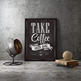 Poster,Coffee Prints,Chalkboard Vintage Style Poster,Lettering Cafe Coffee Shop,Wall Art Picture Decor Canvas Painting 32X40Inch(80X100Cm)