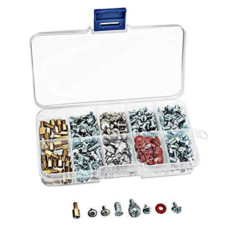 ELEGIANT 318 morceaux mix 9 variétés ordinateur vis pratique en boîte kit gehäuseschrauben laufwerkschrauben flachkopfschrauben pour carte mère pC boîtier cD-rOM pour disque dur