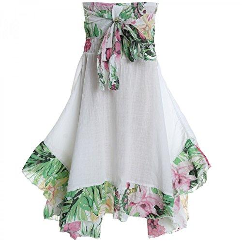 BEZLIT Mädchen Kinder Spitze Kleid Peticoat Fest Sommer-Kleid Kostüm 20424 Weiß Größe 140