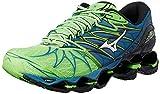 Mizuno Wave Prophecy 7, Scarpe da Running Uomo, Verde (Greengeckosilverbluesapphire), 44.5 EU