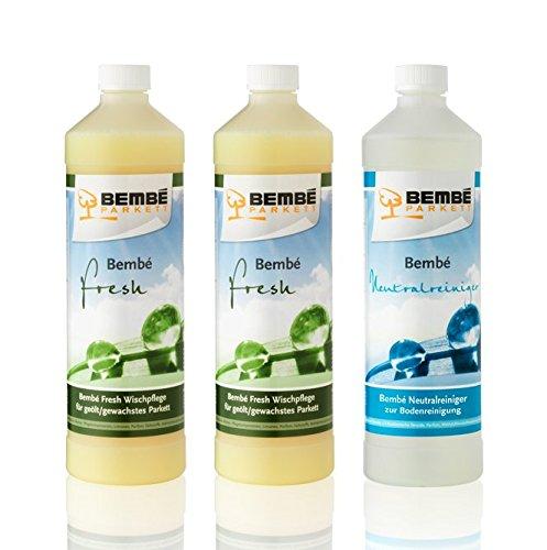 Pflege-Set für geöltes Parkett: Fresh Parkettpflege 2 Liter + Neutralreiniger 1 Liter