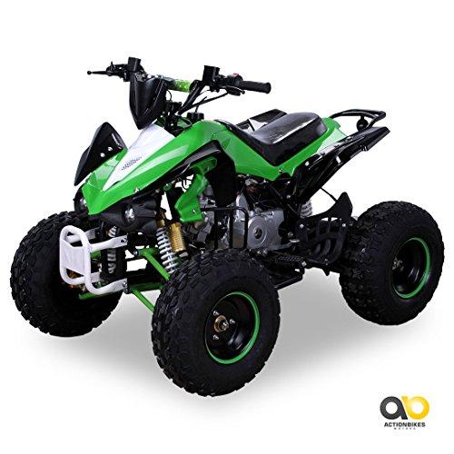 Kinder Quad S-12 125 cc Motor Miniquad 125 ccm grün/weiß Panthera