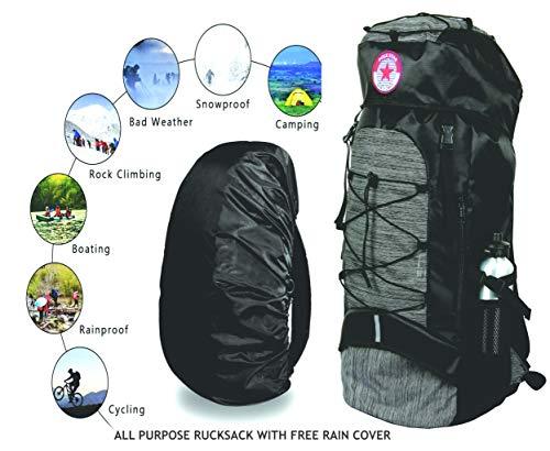 POLESTAR Flyer Black 55 ltrs Rucksack for Hiking Trekking/Travel Backpack Image 6