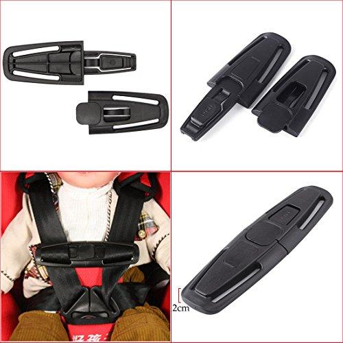 JJOnlinestore–negro coche asiento de seguridad correa cinturón arnés pecho niño niños bebé...