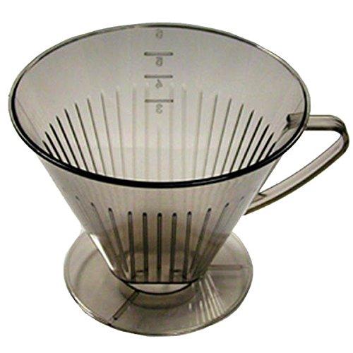 Metaltex - Filtro per macchina da caffè americano, trasparente, varie misure, Plastica, per 4 tazze