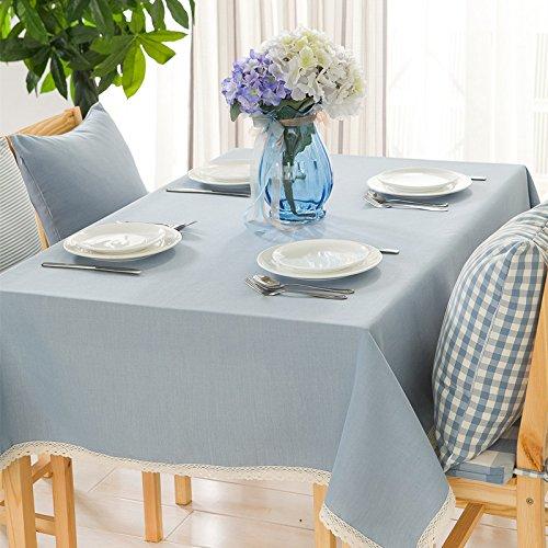 Preisvergleich Produktbild Tabgw Rechteckige Tischdecke Esszimmer Garten Hotel Cafe table cover Tuch europäischen Stil wasserdicht Farbe Baumwolle und Leinen grau 130x220cm Home Decoration