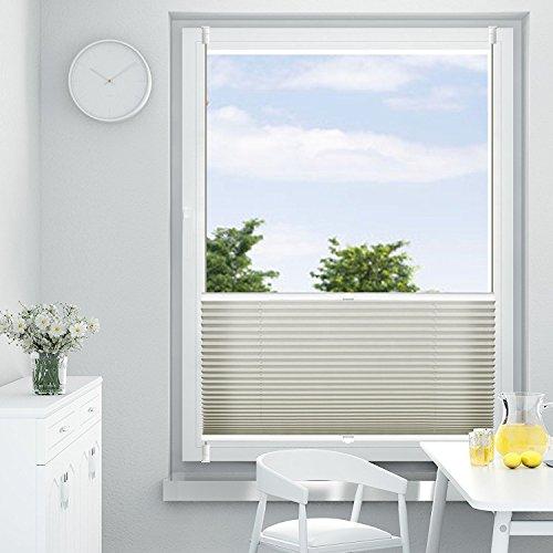 Oubo tenda plissettata oscurante tenda plissettata senza fori grigio 35 x 120 cm klemmfix - Smontare maniglia finestra senza viti ...