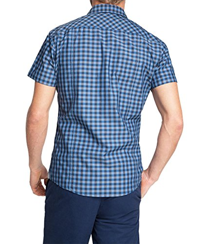 edc by Esprit Vicky Check - Chemise Casual - Homme Bleu - Bleu