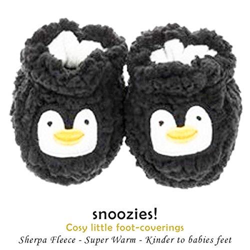 baby-0-3-months-snoozies-animal-sherpa-soft-fleece-booties-lamb-penguin-bunny-rabbit-teddy-bear-owl-