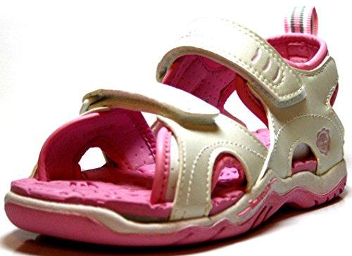 Timberland 65751 Mädchen Kinder Schuhe, Bade - Sandalen (32, Weiss)