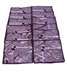 Kuber Industries Saree cover 12 Pcs combo in Purple satin ,Wedding Collection Gift