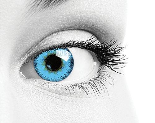 Lenti a contatto colorate giornaliere Queen\'s One Daily Color confezione da 10 bc 8.60 diam. 14.2 colori Green, Blue, Choco, Pearl-Blue