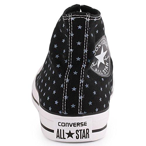 Converse Chuck Taylor All Star Chaussures de toile, unisexe Noir/blanc