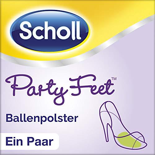 Scholl Party Feet Ballenpolster - Rutschfeste Einlegesohlen mit GelActiv Technologie für fast alle Damenschuhe - 1 Paar selbstklebende Gelsohlen