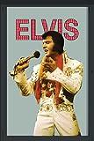 empireposter - Presley, Elvis - Weiße Kleidung - Größe (cm), ca. 20x30 - Bedruckter Spiegel, NEU - Beschreibung: - Bedruckter Wandspiegel mit schwarzem Kunststoffrahmen in Holzoptik -