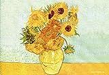 Fridolin 18892Van Gogh Sonnenblumen Reinigungstuch für Brille, 18x 12,5x 1cm, Mehrfarbig