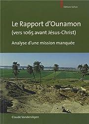 Le rapport d'Ounamon (vers 1065 avant Jésus-Christ) : Analyse d'une mission manquée