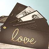 Hochzeitseinladungen online, Pure Love 200 Karten, Kartenfächer 210x80 inkl. weißer Umschläge, Braun