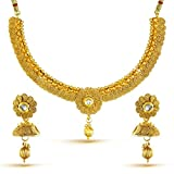 #3: YouBella Fashion Jewellery Party and Wedding wear Gold Plated Necklace Jewellery set with Earrings For Girls/Women