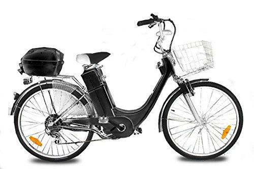 "City Fahrrad Elektro Fahrrad E-Bike 36V Elektroantrieb 250W E-GO!City-1 26"" Schwarz"
