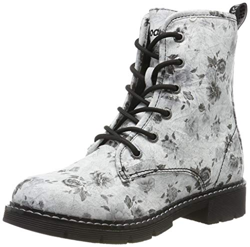 Dockers by Gerli Damen 45PN201 Combat Boots, (Weiss/Schwarz 501), 38 EU