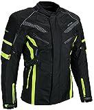 HEYBERRY Herren Touren Motorradjacke Textil fluorgrün Gr. XXXL