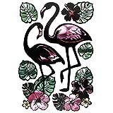 Edle Metallic-Sticker mit spiegelndem Metallic-Effekt | Aufkleber | Abziehbilder | Stickerbögen mit diversen Motiven, Bogengröße 21 x 30 cm (Flamingo)