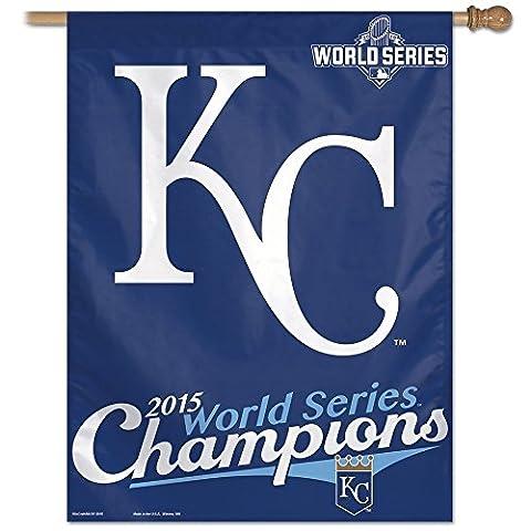 WinCraft Kansas City Royals 2015 World Series Champions MLB Vertical Flag 90 x 70 cm