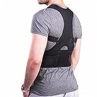 YiZYiF Ajustable Ceinture Correcteur Posture Redresse Dos Épaule Pour Homme et Femme Therapie Magnétique Noir XL