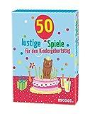 Moses 50 lustige Spiele für den Kindergeburtstag, Kinderbeschäftigung, Kartenset
