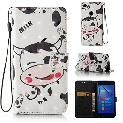 Lomogo Huawei P8 Lite 2017 Hülle Leder, Schutzhülle Brieftasche mit Kartenfach Klappbar Magnetverschluss Stoßfest Kratzfest Handyhülle Case für Huawei P8Lite (2017) - YIBO32896#10