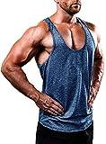 Herren Gym Muscle Weste Solid Color Low Cut Bodybuilding Tank Top Technische Stringer Lifting Fitness Übung Laufen Outfit Tops M-XXL