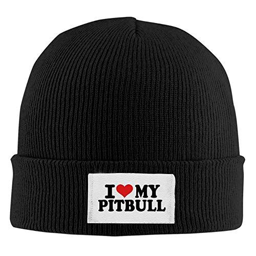 Bgejkos Erwachsene Mode ich Liebe Meine Pitbull Baumwolle Kitted Wollmütze, Wintermütze QW329