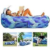 LATIT Aufblasbares Sofa Couch mit Kopfkissen,Aufblasbarer Liegestuhl, Wasserdichte und Tragbare Luftsofa-Hängematte mit Kopfstütze, Leicht aufblasba
