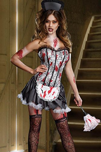 Hexe Pack Teufel Kleid Weiblich Vampir Prinzessin Installed Nightclub DS Hexe Halloween Damen Cosplay Kostüm,A-OneSize