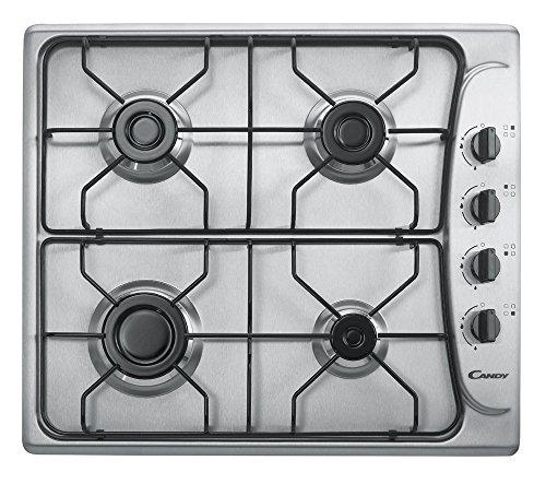Candy PL 40 ASX encastrable plan cuisson à gaz en acier inoxydable