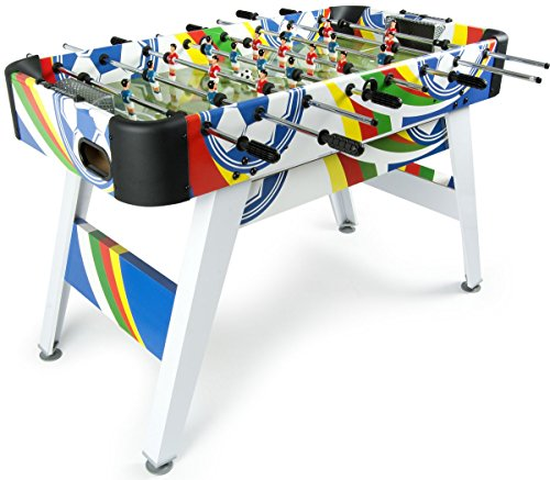 Leomark Fun Football Table de babyfoot Jeu de Football, Baby-Foot, Baby Foot Table En Bois Jeu de Football Professionnel Enfants Adulte Jeu de Table Soccer de Voyag