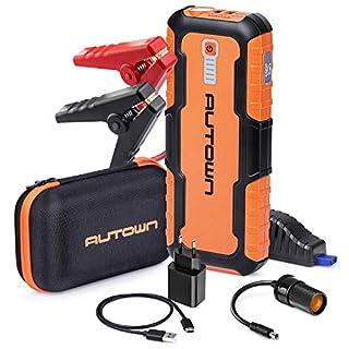 Auto Starthilfe 21000mAh 1000A Spitzenstrom AUTOWN Starthilfe Powerbank Auto für alle 12V Fahrzeuge Batteriestarter mit LED Taschenlampe und Dual USB Ausgänge
