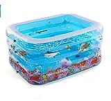 Aufblasbare Badewanne Neugeborenen Bad Baby Schwimmbad Home Badewanne zusammenklappbar mit Elektropumpe ( Farbe : B )
