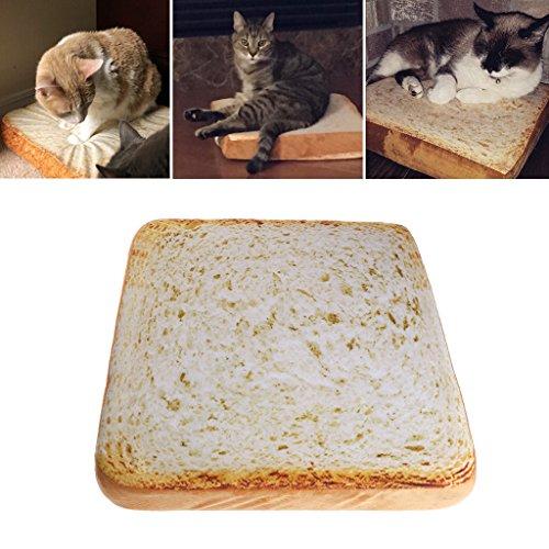 autone Creative Toast Brot Katze Hund Liege Bett-Teppiche, weiche Fasern Pet Kleiner Hund Welpen Warm Soft Bett Faser Ein Brot