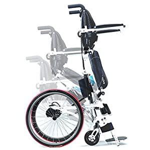 Pegasus II (Power stand and sit). A semi-power standing wheelchair that gives you better health.