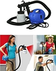 GNEY Paint Zoom - Electronic Spray Paint Machine | Heavy Duty Paint Sprayer, With Multiple Accessories | 650-Watt, Blue/White