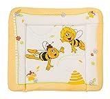 roba Wickelauflage 'Biene Maja', weiche Wickelunterlage 85 x 75 cm, Wickeltischauflage PU beschichtet