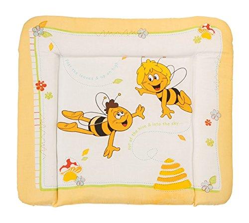 Preisvergleich Produktbild roba Wickelauflage 'Biene Maja', weiche Wickelunterlage 85x75cm, Wickeltischauflage PU beschichtet